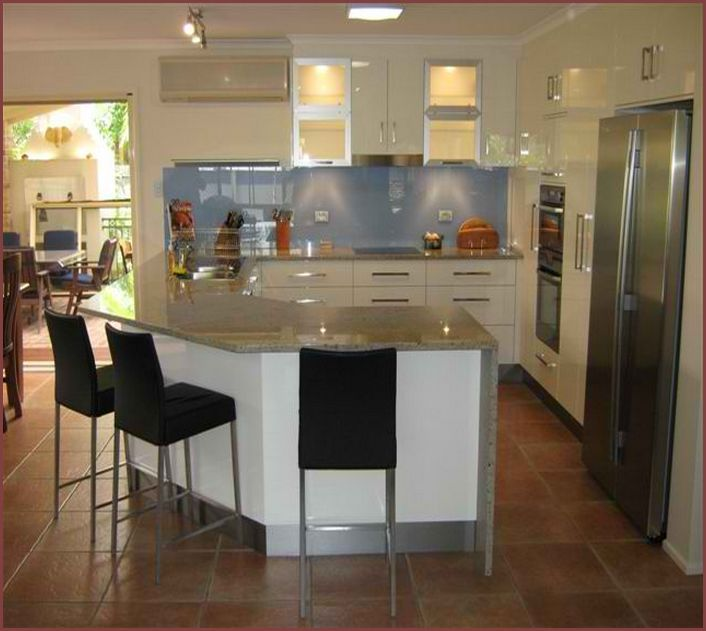 Nice Shaped Kitchen Island Designs With Seating Home Design Ideas Compact For Six