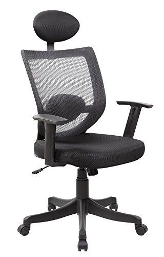 Anji Modern High Back Ergonomic Mesh Computer Desk Office Chair With Lumbar Support And Headrest