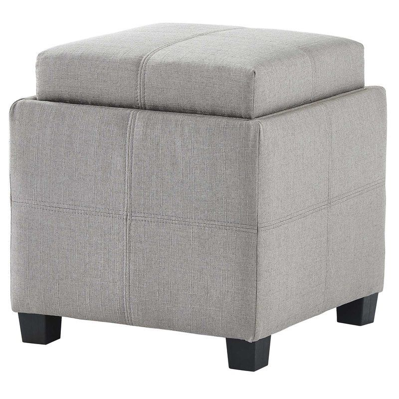 Super Pimentel Fabric Storage Cube Reversible Tray Lid Ottoman Alphanode Cool Chair Designs And Ideas Alphanodeonline
