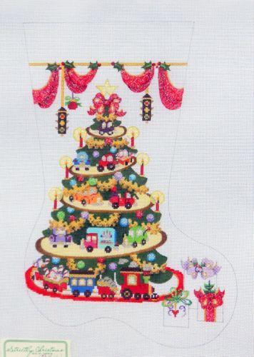 Strictly Christmas Cars, Trucks & Train Stocking handpainted ...