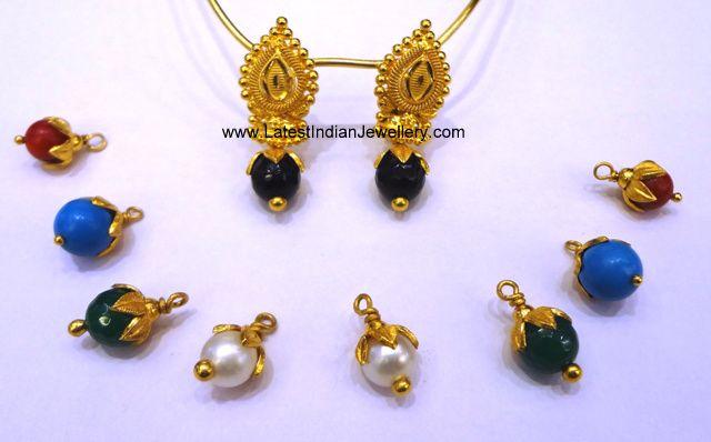 Changeable Drop Gold Earrings | Jewellery | Pinterest ...