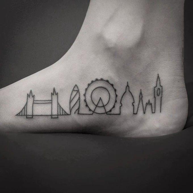 London Skyline Tattoo With Images Skyline Tattoo London