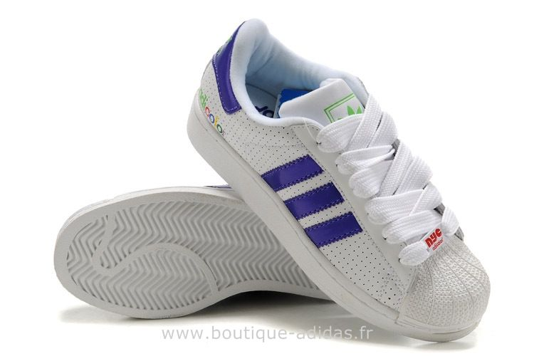 adidas superstar w violet blanc