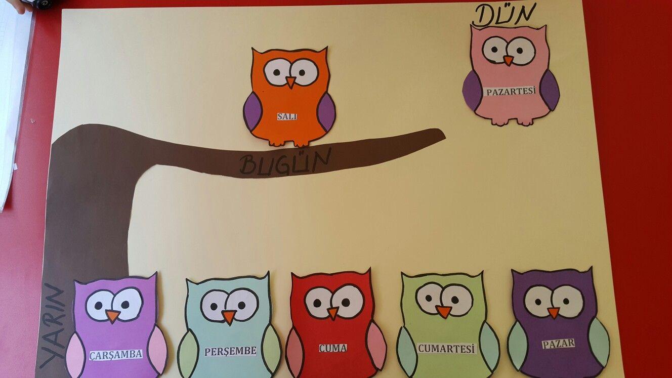 Classroom Quilt Themes ~ Haftanın günleri okul öncesi panosu