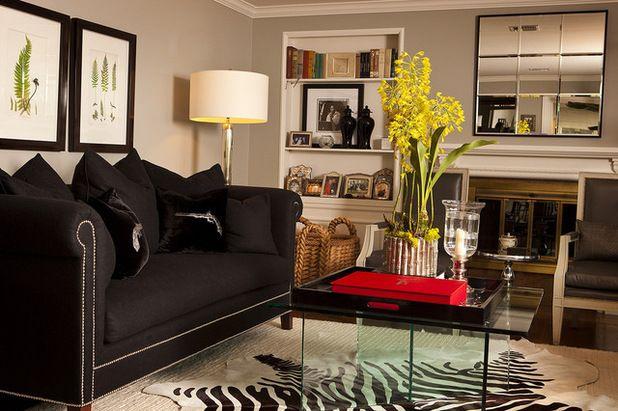 dunkle möbel wohnzimmer  terrassenmöbel  black sofa