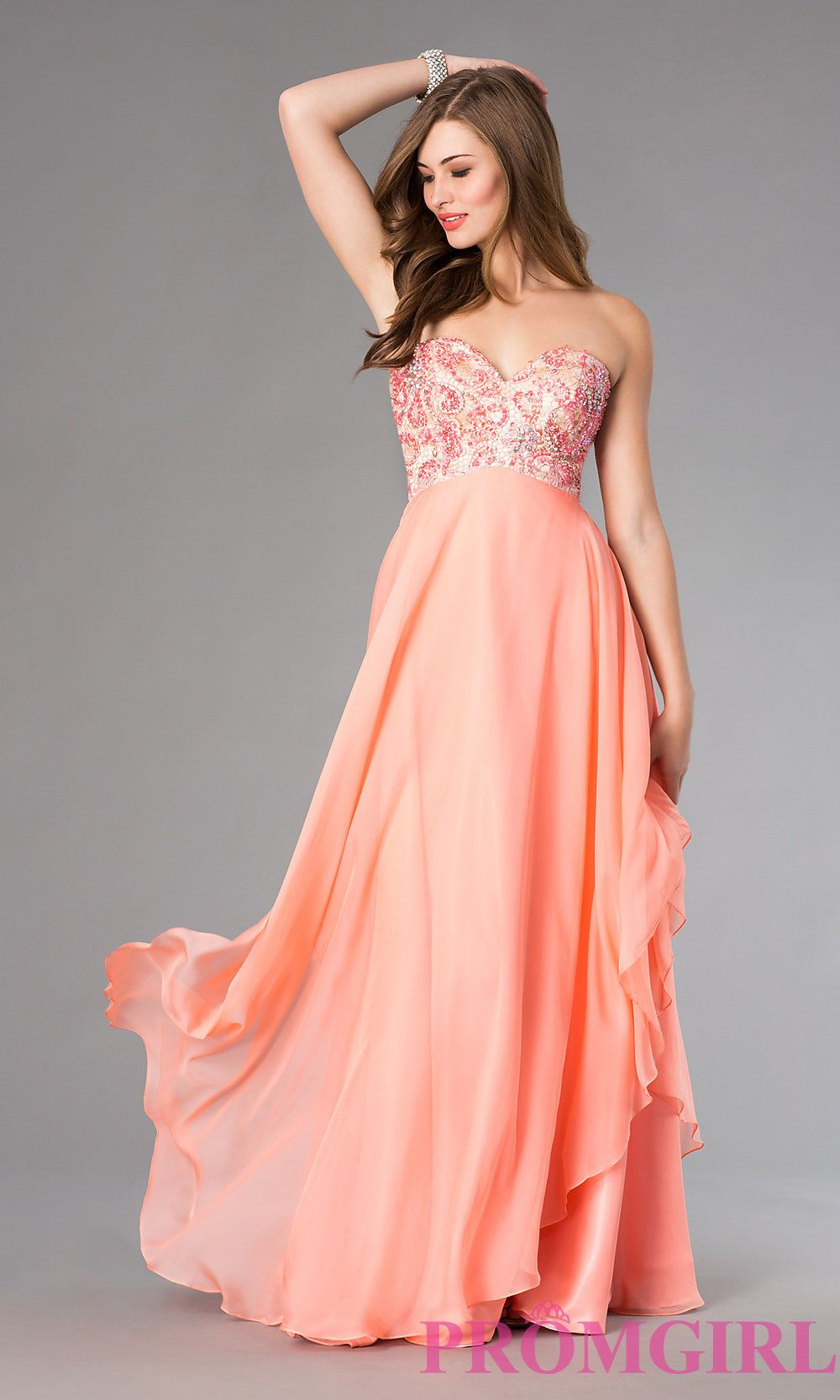 Image of Alyce Empire Waist Prom Dress AL-35678 Style: AL-35678 Detail Image 1