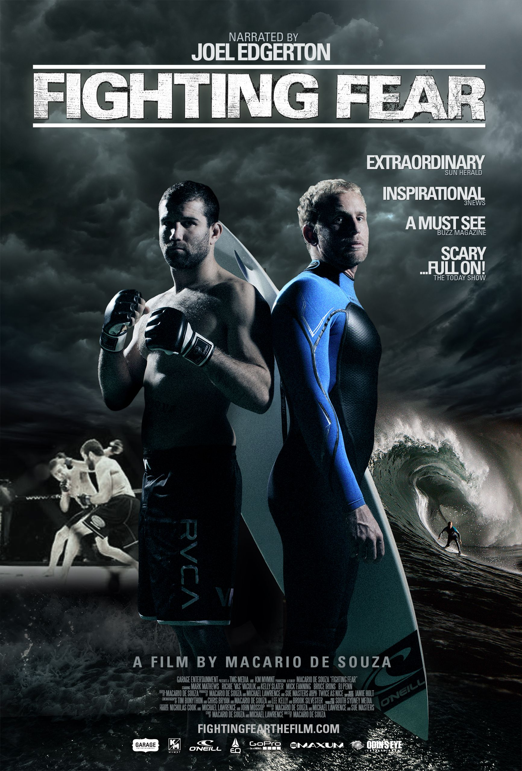 Fighter Fear Movie Poster Documentary MMA surfing