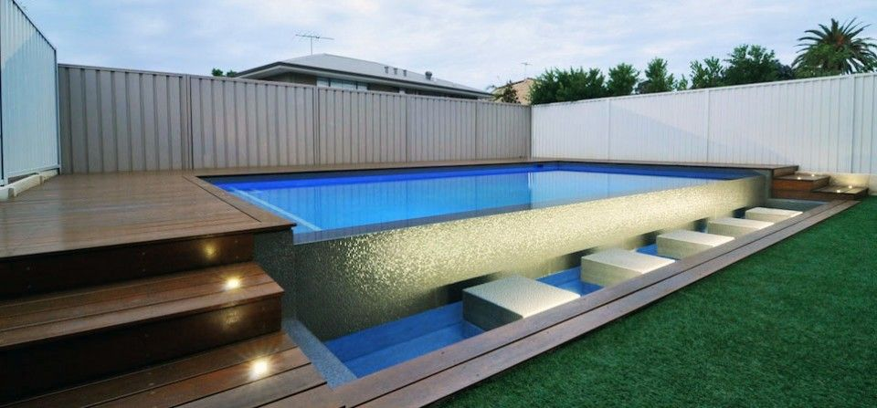 Above Ground Lap Pools decks ideas semi inground pools - google search | pool | pinterest