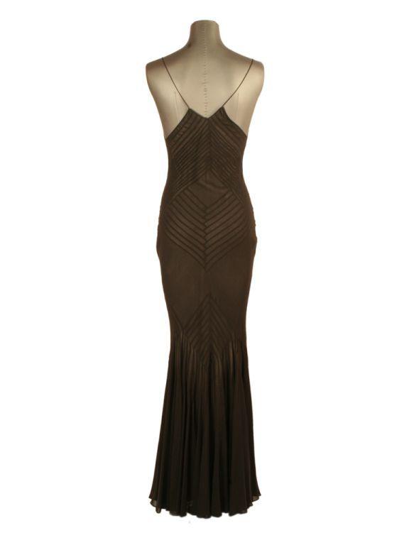 John Galliano Bias cut silk chiffon evening gown in 2018 | material ...