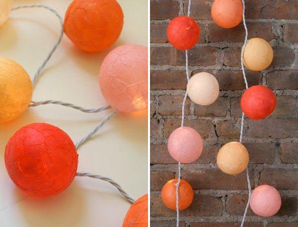 TRÊS STUDIO ^ blog de decoración nórdica y reformas in-situ y online ^: Hazlo tú: gurinalda de bolas de colores de papel maché