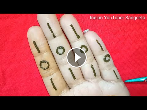 Super 101 Easy Stylish Mehndi Design Henna Design New Mehndi