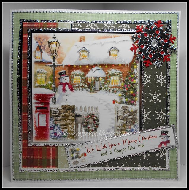 Christmas Card Club Challenge 5 Post Box / Mail Box in