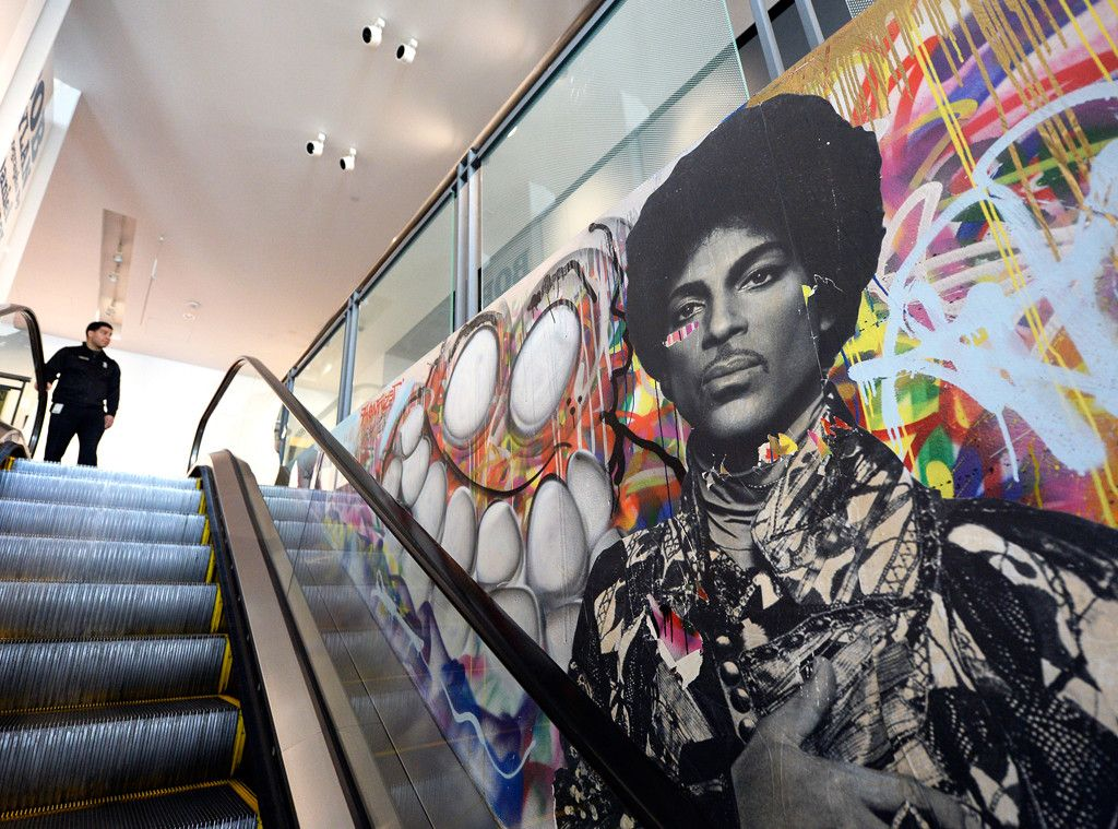 Prince mural at grammy museum in la prince pinterest for Chris brown mural