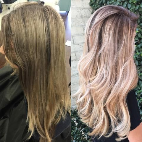 Color correction the most perfect blonde sombre career for Salon sombre