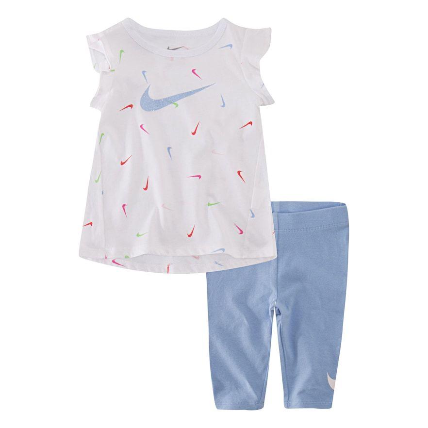 3a1883fd4c Baby Girl Nike Tunic Top & Capri Leggings Set, Infant Girl's, Size ...