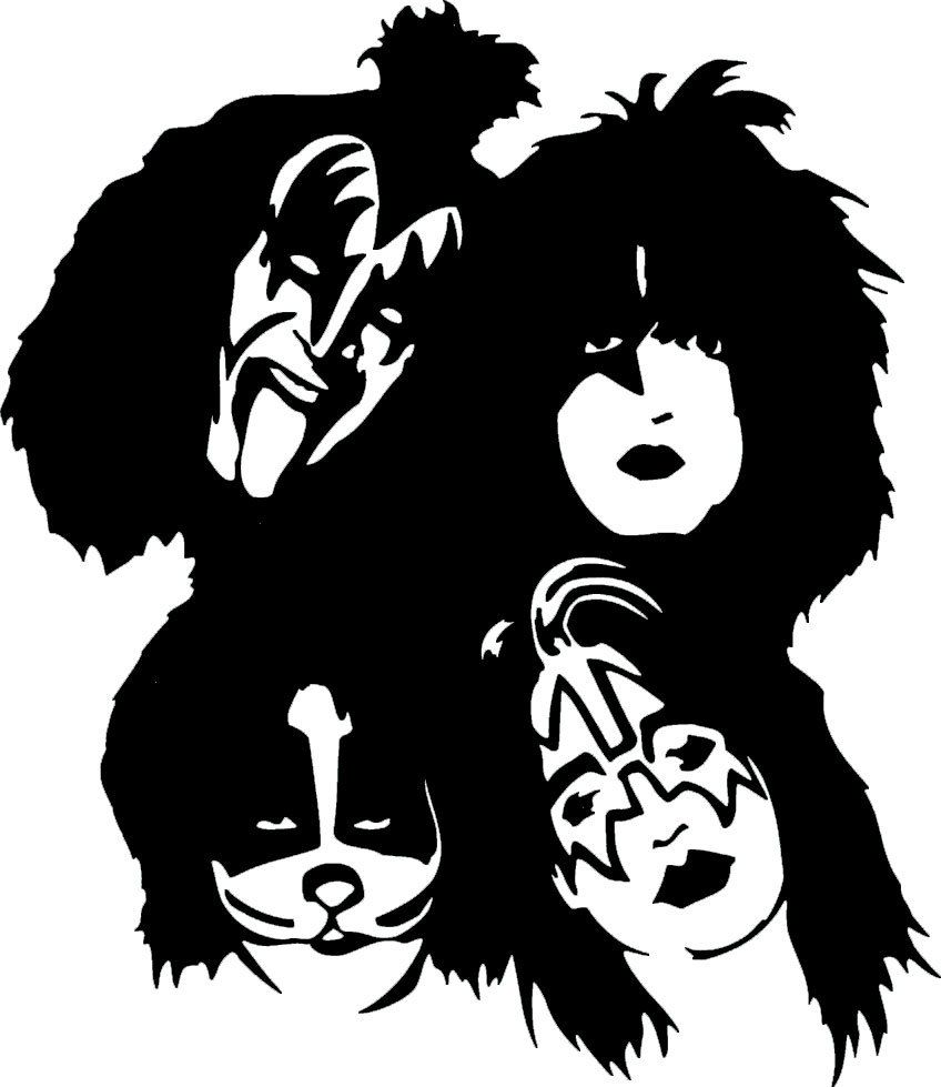 kiss band coloring pages - kiss army google zoeken graphic kiss pinterest
