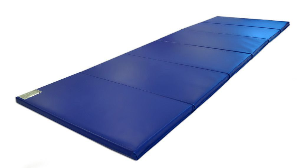 gym blue panel two ip thick mat fitness x exercise costway folding gymnastics mats
