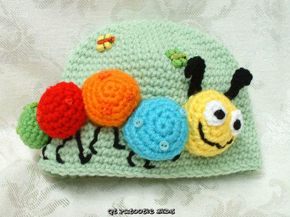 Kirby the Caterpillar Hat Pattern - crochet | Hüte, Muster und Hut ...