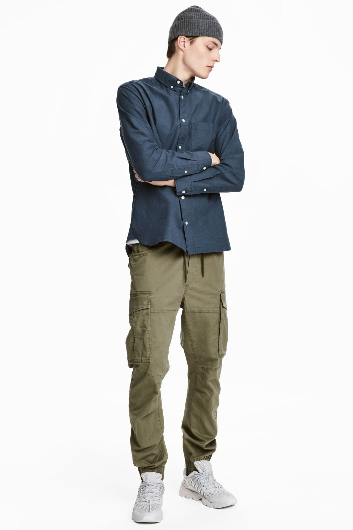 outlet store info for big discount of 2019 Cargo Joggers | Khaki green | MEN | H&M US | MENS PANTS ...