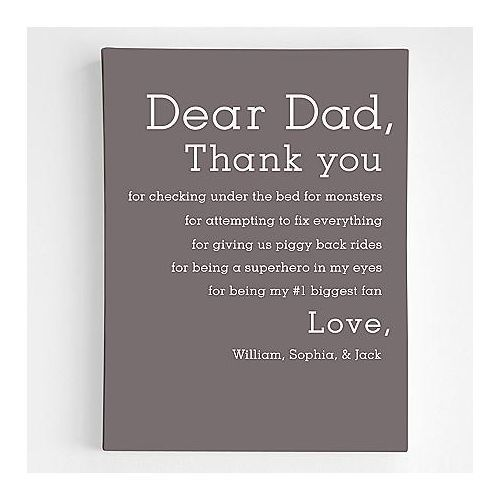 Dear Dad Wall Art