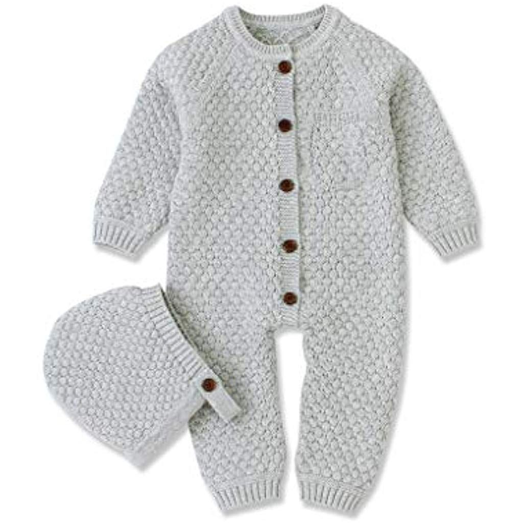 Baby Sweaters CoatToddler Kids Button Knit Cardigan Long Sleeve Infant Girls Boys Winter Cloths