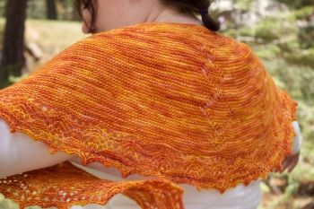 """Heather's Cholula Chevrons Shawl project - Takes just 1 skein of #Madelinetosh Tosh Merino Light in the #justatjimmys Mexican Grilled Street Corn color and US 3 - 32"""" circular needles! We like @knitterspride Dreamz needles for this project: http://www.jimmybeanswool.com/knitting/yarn/KnittersPride/DreamzFixedCircularNeedles.asp Yarn:http://www.jimmybeanswool.com/knitting/yarn/Madelinetosh/ToshMerinoLight.asp"""