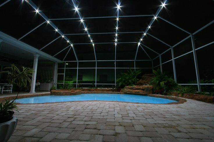 Nebula Lighting Systems Rail Light System Http Centophobe Com Nebula Lighting Systems Rail Light System Lanai Lighting Pool Enclosure Lighting Pool Cage