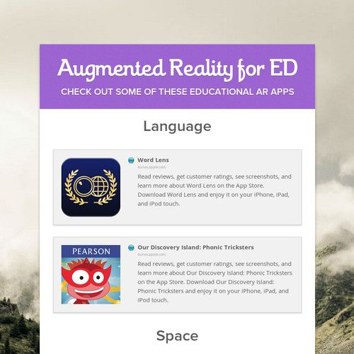 Augmented Reality For Ed Augmented Reality Reality Augmented