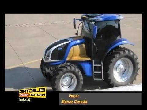 Hydrogen fuel cells tractor from New Holland - Electric