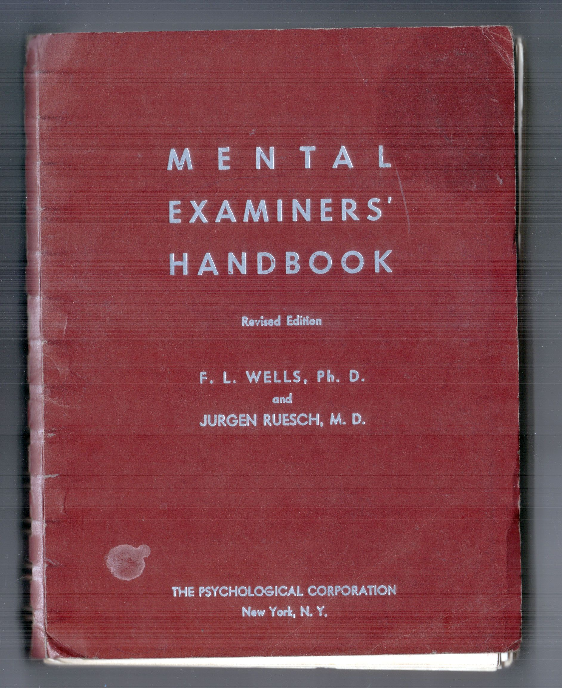Mental Examiners Handbook Published By The