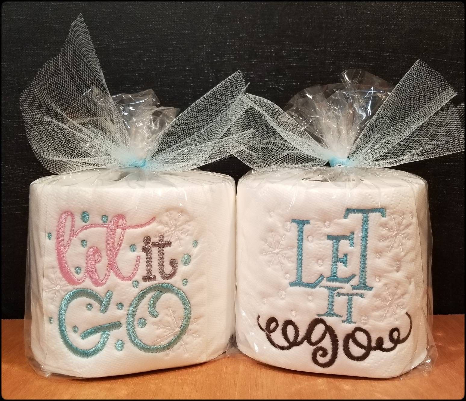 Frozen Inspired Gift Let It Go Kids Christmas Secret Santa Gag Embroidered Toilet Paper Gifts For Everyone By Southernthrills