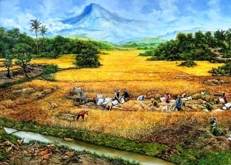 Kumpulan Lukisan Pemandangan Alam Terbaik Stok Tersedia Pemandangan Alam Gambar