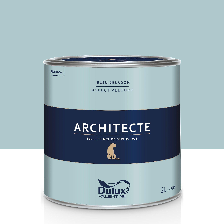 Peinture Blanche Dulux Valentine peinture bleu céladon velours dulux valentine architecte 2 l