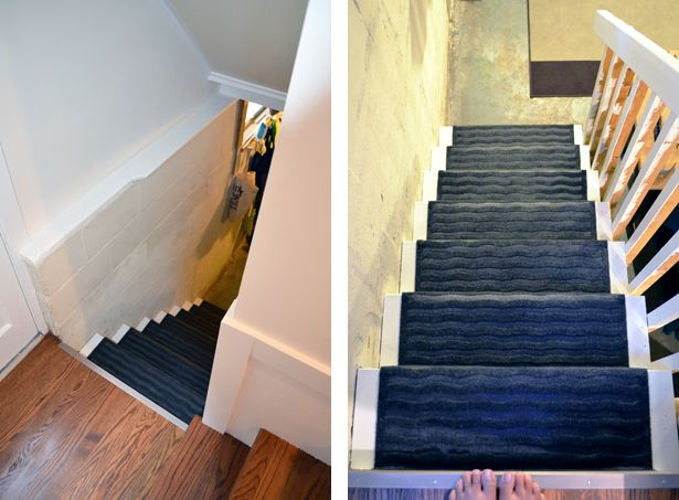 Best Basement Stair Update Basement Stairs Stairs Stair Remodel 400 x 300