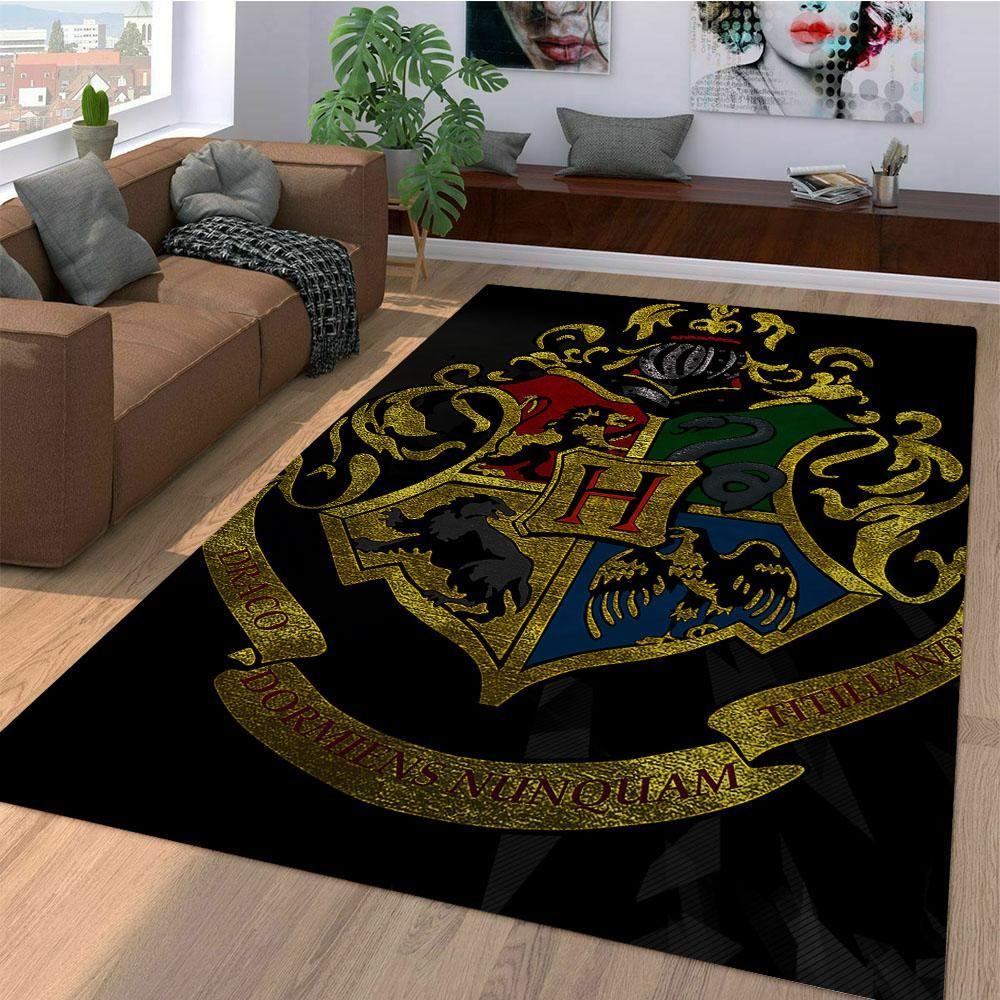 Hogwarts Logo Harry Potter Carpet Living Room Rugs Tree Vision