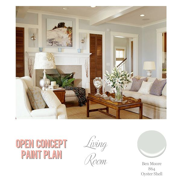Benjamin Moore Oyster Shell Source Best Gray Paint Colors According To Ryan Gosling Living Room Foolproof Selections For An Open Concept Floor Plan