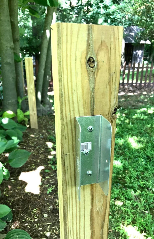 Diy split rail fence with simpson strongtie connectors