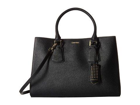 Calvin Klein Kate Saffiano Satchel Calvinklein Bags Shoulder Hand Leather