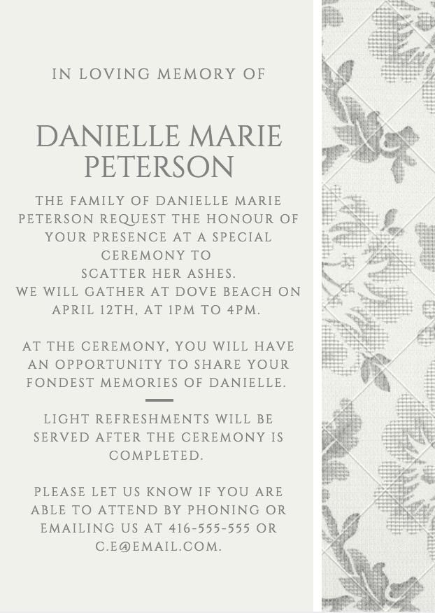 39 Best Funeral Reception Invitations Invitations