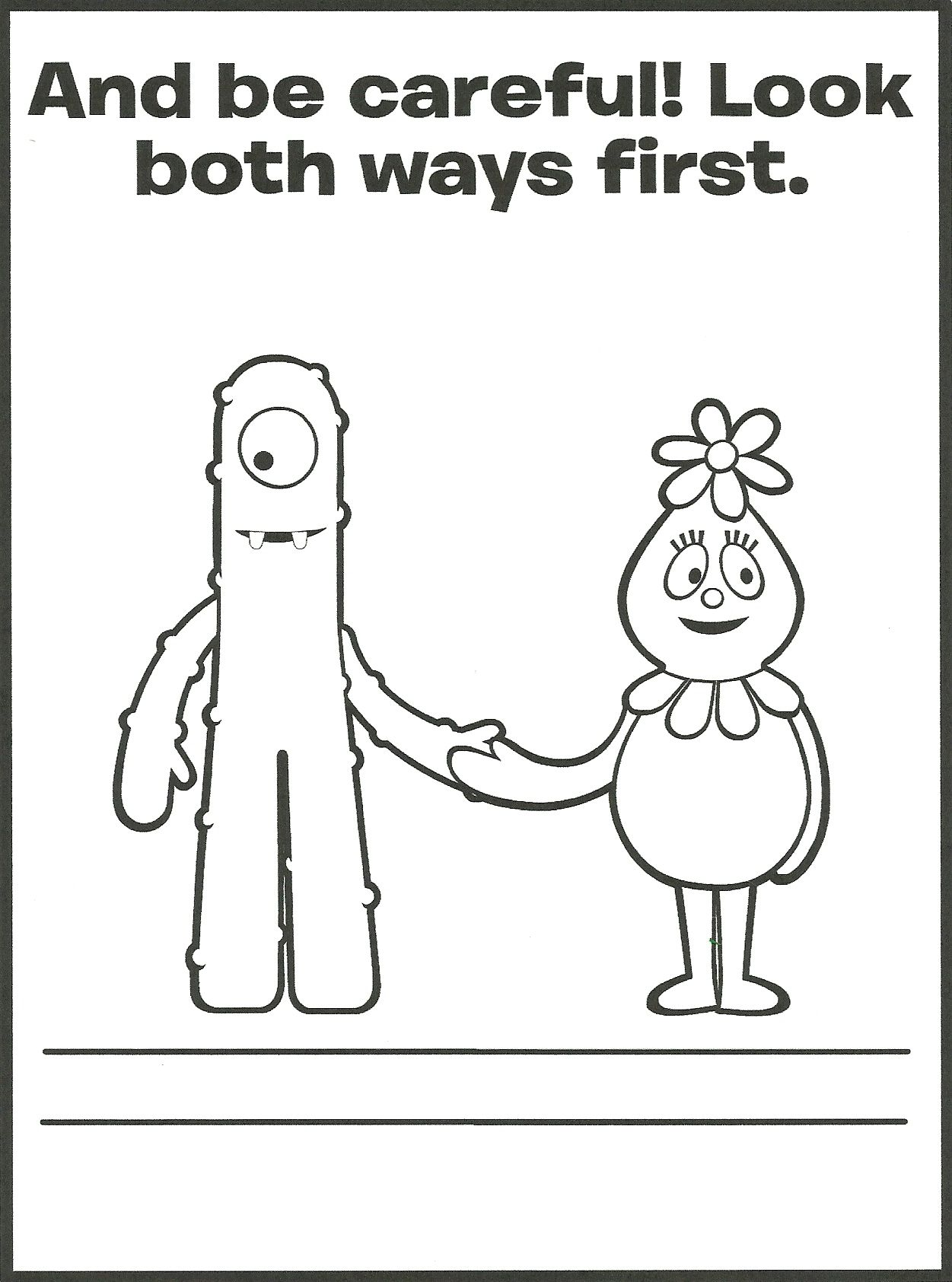Muno Foofa Coloring Page Pattern Coloring Pages Coloring Pages Yo Gabba Gabba
