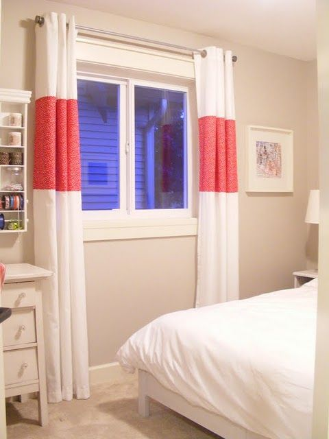 a good way to make stock curtains the right length