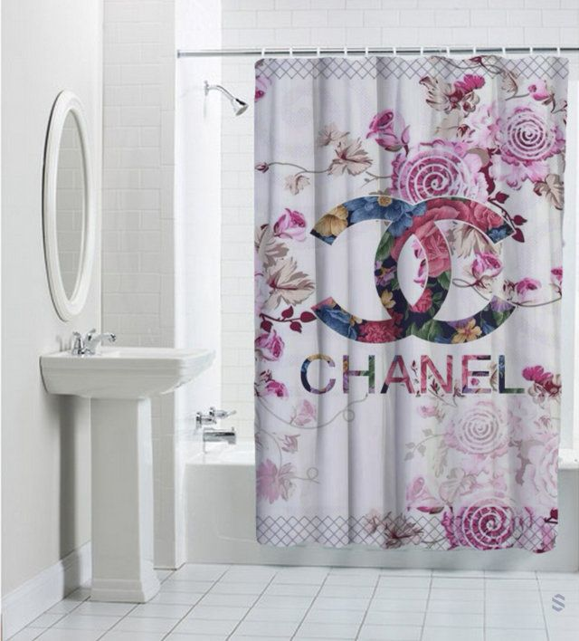 391196e2d8 Roses Chanel Floral Custom Best Design Shower Curtain cheap and best  quality.  100% money back guarantee