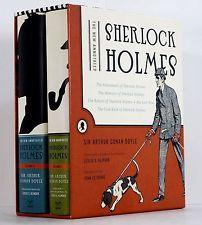 2005 SHERLOCK HOLMES ARTHUR CONAN DOYLE 2 VOLS THE SHORT STORIES HC DJ SLIPCASE
