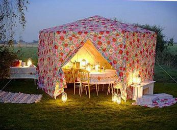 Glamping dining tent