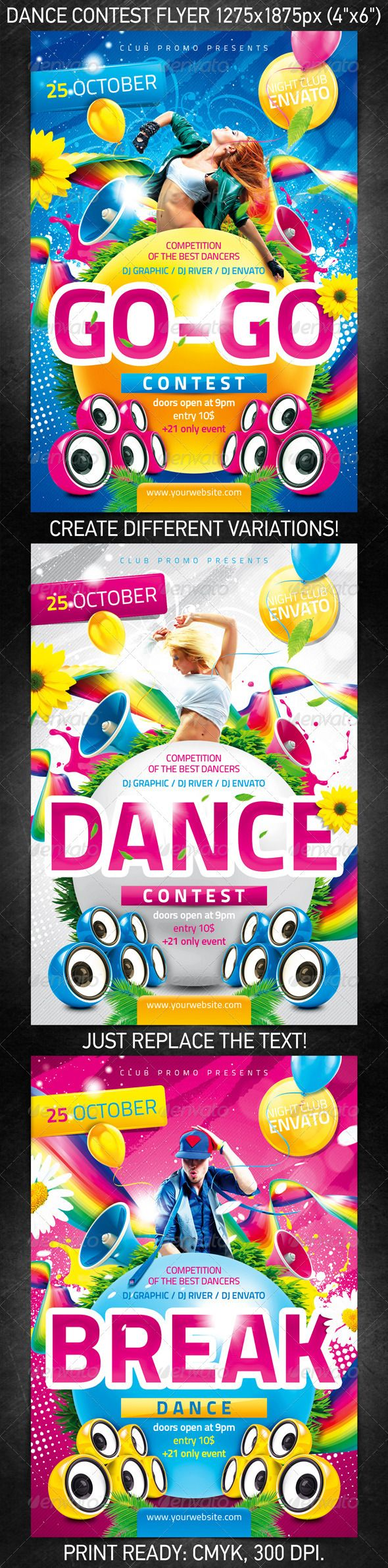 Dance Contest Flyer Flyer Template Template And Print Templates