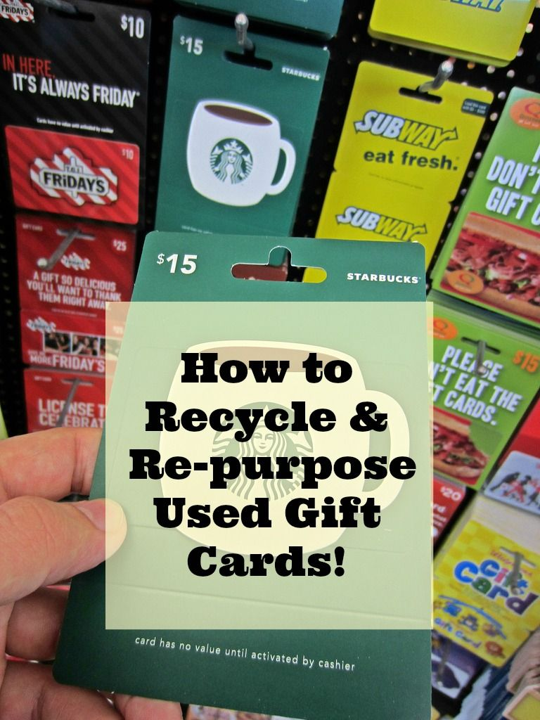 How To Recycle Gift Cards And Creative Re Purposing Ideas Recycled Gifts Gift Card Craft Upcycled Gifts