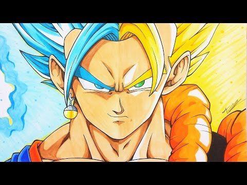 Drawing Vegito Gogeta Dragonball Super Z Tolgart Youtube Anime Dragon Ball Gogeta And Vegito Dragon Ball Wallpapers
