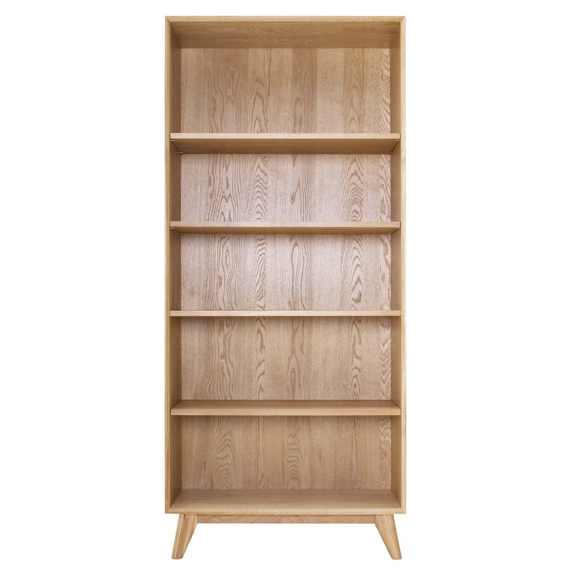 Best Lund Oak Tall Bookcase Oak Tables Dining Room 400 x 300