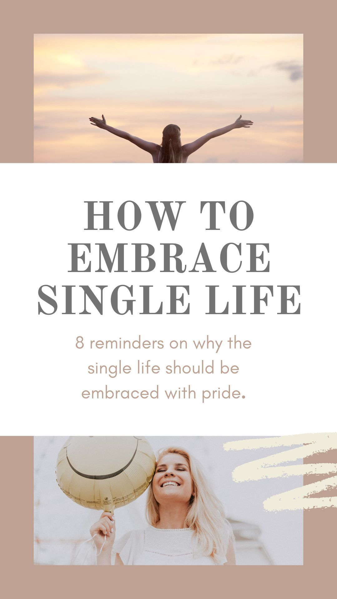 How to embrace single life. Self care tips. Love your life! Healing a broken heart. Being single in your mid twenties. #singlelife #selflove #single #selfcare