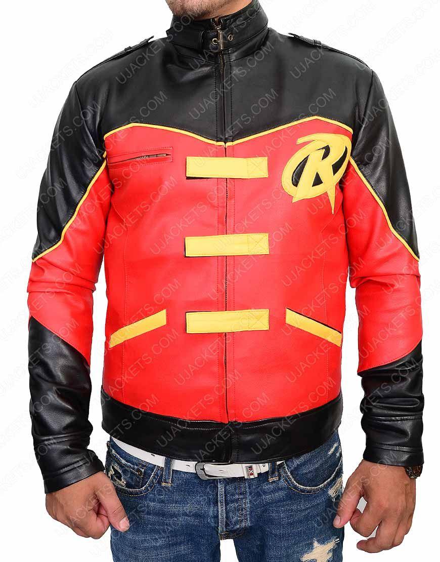 Tim Drake Red Batman Robin Leather Jacket Ujackets Jackets Film Jackets Tim Drake Red Robin [ 1110 x 870 Pixel ]